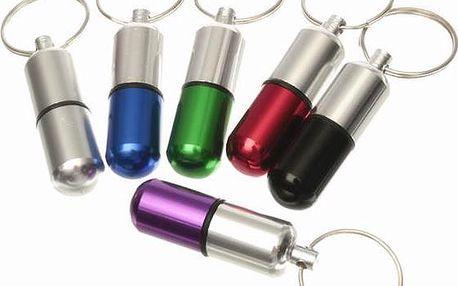 Úložný box na léky s kroužkem na klíče