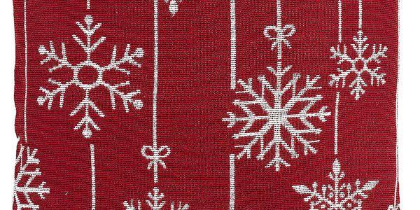 Dakls Povlak na polštářek Gobelín Vánoční vločka červená, 40 x 40 cm
