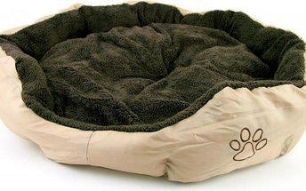 Akinu Pelech nylon&fleece kulatý béžový s tlapkou vel. L