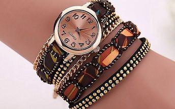 Vícevrstvé hodinky s řetízkem v mnoha barvách