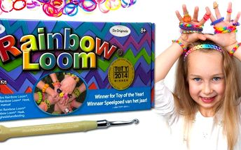 Original Rainbow Loom včetně stavu a gumičky