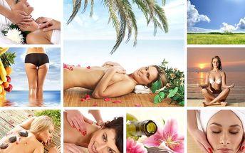 Výhodný balíček masáží a kosmetiky. Počet balíčků omezen.