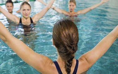 3x vstup na aqua aerobic - cvičení ve vodě