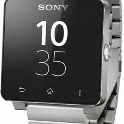 Sony SmartWatch SW2, kovový řemínek, stříbrné