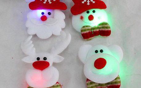 Roztomilá vánoční brož se světýlkem