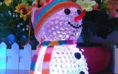 Svítící LED sněhulák - dvě velikosti
