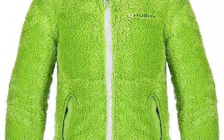 Dětská chlupatá mikina Husky GOUPY SHU-7495, zelená