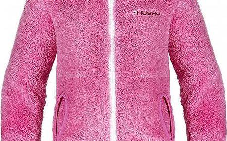 Dětská chlupatá mikina Husky GOUPY SHU-7493, růžová