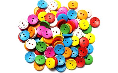 100 kusů barevných knoflíků
