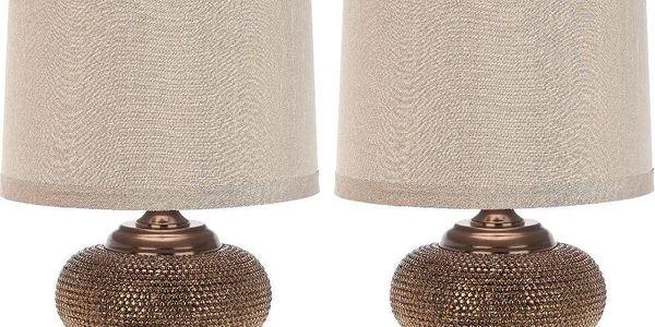 Sada 2 stolních lampa Alexis Gold