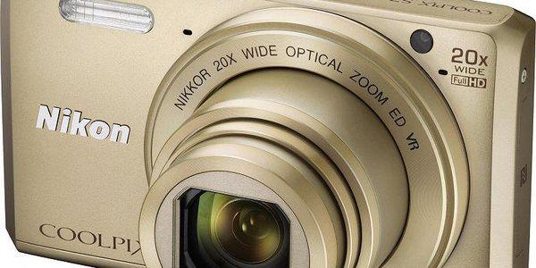 Nikon Coolpix S7000 Gold + 8GB karta a pouzdro ZDARMA!