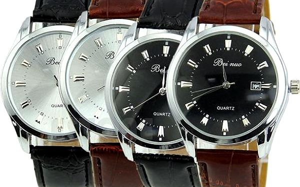 Elegantní hodinky pro muže s výběrem barev