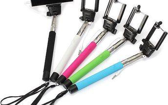 Selfie tyč ve 4 barvách - až 106 cm