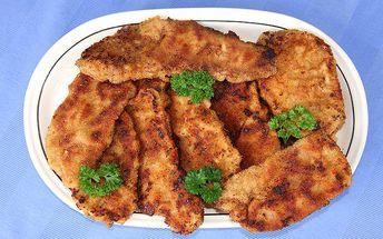 1 kg kuřecích řízečků s chlebem nebo hranolky pro 2 osoby v Praze