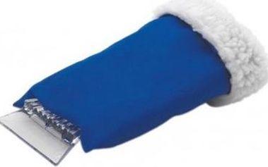 Škrabka se zateplenou rukavicí - modrá