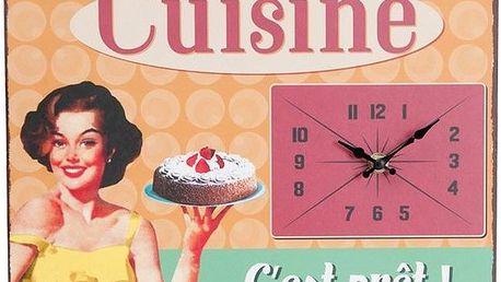 Nástěnné hodiny Vintage Cuisine, 32x24 cm