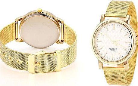 Dámské elegantní hodinky Quartz F Unison ve zlaté barvě