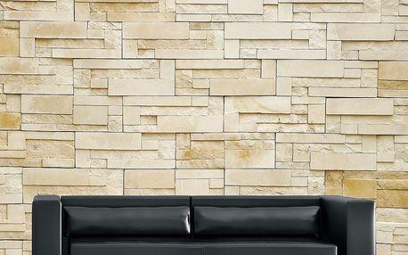 Velkoformátová tapeta Pískovcová zeď, 315x232 cm - doprava zdarma!