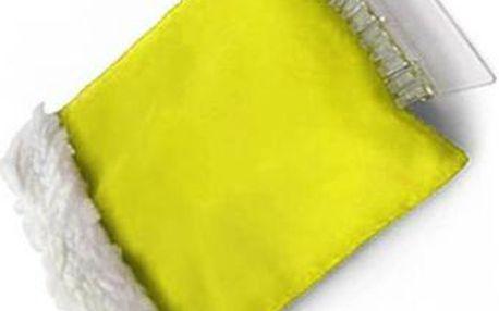 Škrabka se zateplenou rukavicí - žlutá