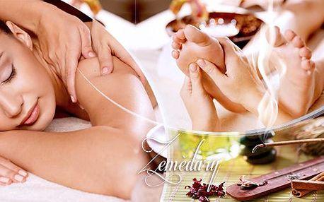 1,5hod. luxusní celotělová masáž bio olejem s éterickou příměsí - rašelinový obklad páteře!