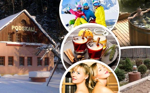 Romantický pobyt pro dvě osoby v penzionu Podskalí s polopenzí, venkovní lázně a svařák neomezeně!