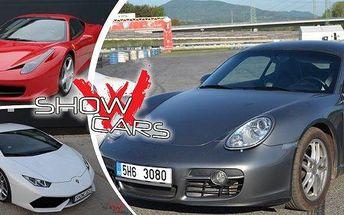 Showcars - viděli jste v pořadu Autosalon! Na výběr 12 luxusních supersportů! Zažijete 20 minut jízdy autem snů rychlostí až 300 km/hod! Pro ochutnávku: Ferrari 458 Italia(607 koní) nebo třeba Lamborghini Huracán LP610-4 (610 koní)!