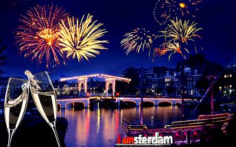 4denní zájezd s oslavou Silvestra v Amsterdamu včetně ubytování v hotelu a láhve sektu
