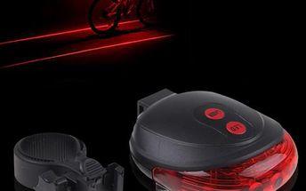 Laserové zadní světlo na kolo - skladovka