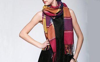 Kostkovaná šála v různých barvách
