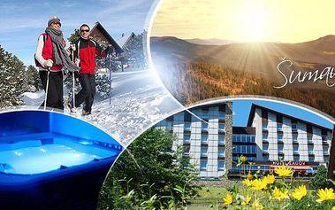 Šumava, Zadov na 3 dny pro 2 osoby s polopenzí + sauna, nordic walking a možnost vířivky! Platnost do 12/2016!