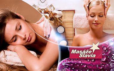 Masáž v délce 60 minut s výběrem: sportovní, zad a šíje, relaxační, antistresová! Masáže Slávia na Praze 10.
