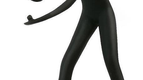 Socha hráč ping pong černo stříbrná