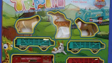 Sada vláčku a zvířátek Train!