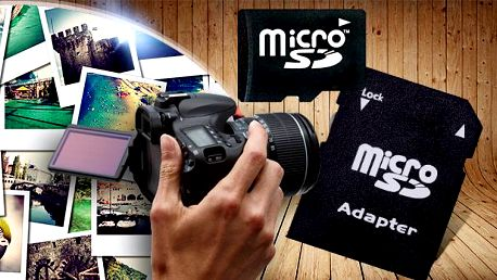 Paměťová karta 32, 64, 128 a 256 GB (micro SD) + adaptér! Ideální pro videokamery, fotoaparáty, do navigace atd.!