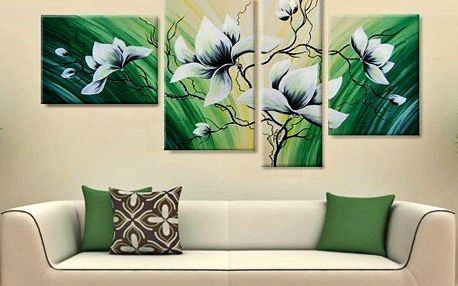 Ručně malované 4dílné obrazy
