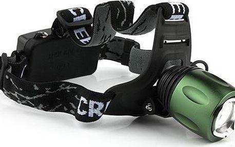 Zoomovací čelovka CREE LED T6