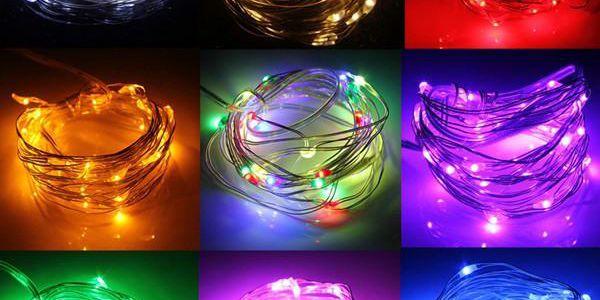 Vánoční LED řetěz - 3 m, několik barevných variant