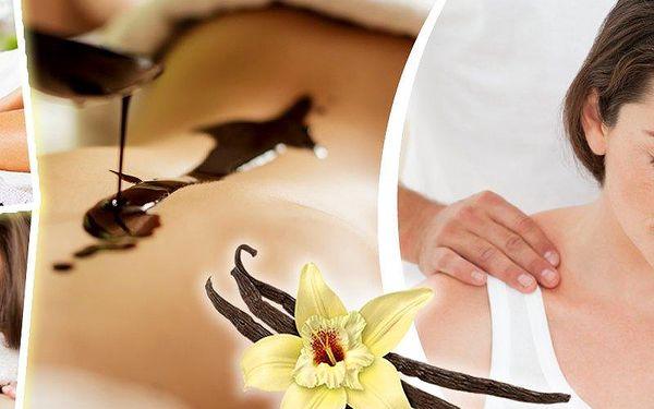 Hodinová masáž šíje, zad, ramen a plosek nohou vanilkovým nebo teplým čokoládovým olejem v Plzni.