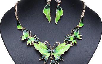 Set motýlkových šperků - více barev