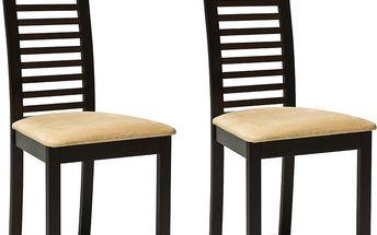 Sada 2 jídelních židlí C22 Wenge - doprava zdarma!