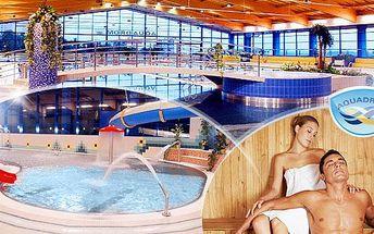 DNES KONČÍ! AQUADROM MOST! Kredit v hodnotě 1200 Kč na bazén a saunu jen za 499 Kč! Neomezená platnost!