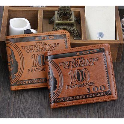 Pánská peněženka s motivem stodolarovky