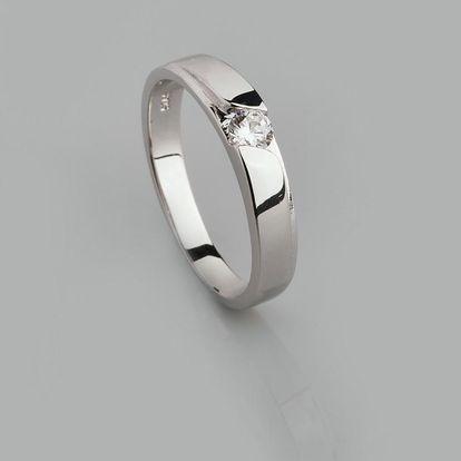 Stříbrný prsten s kubickými zirkony PK051
