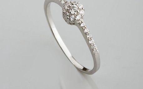 Stříbrný prsten s kubickými zirkony PK049
