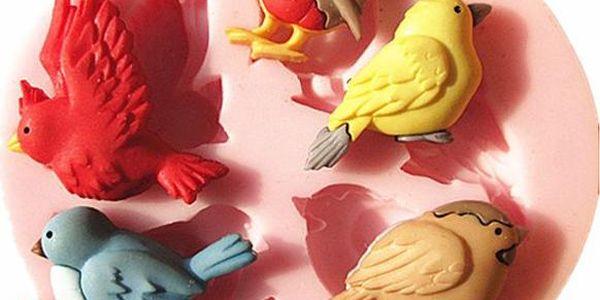 Silikonová mini formička na cukrové ptáčky