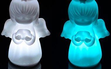LED andílek - 7 barev světla