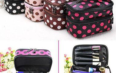 Kosmetický kufřík s puntíky - více barev