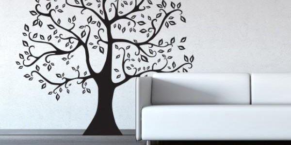Samolepka na zeď - Strom s ptáčky