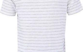 Bílé pruhované triko Selected Him