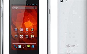 Čtyřjádrový smartphone Sencor Element P470, bílý